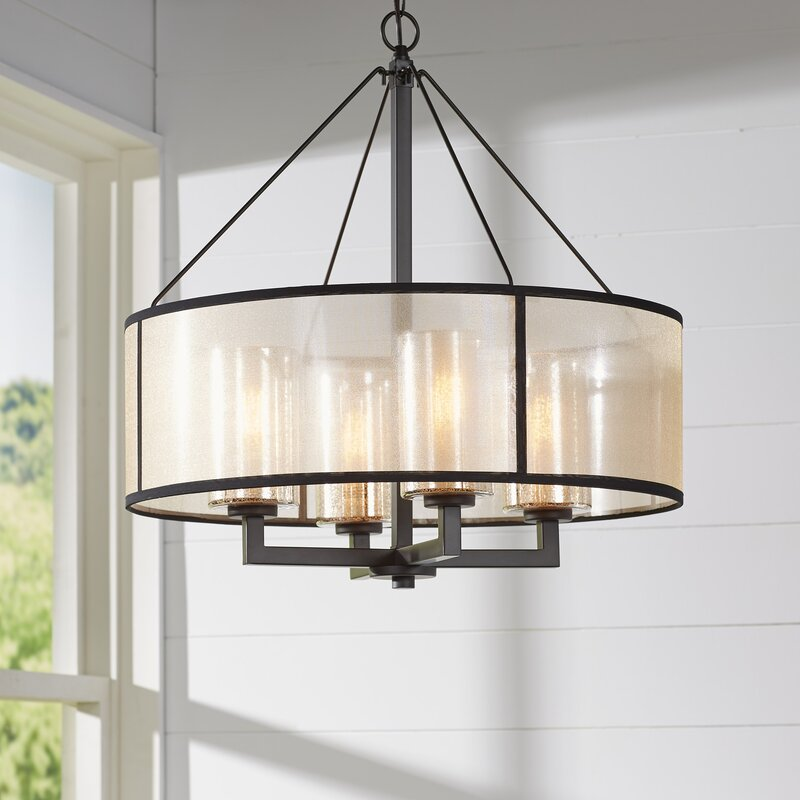 Brayden Studio Dailey 4-Light Drum Chandelier & Reviews