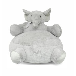 Argill Elephant Figural Plush Kids Novelty Chair by Harriet Bee