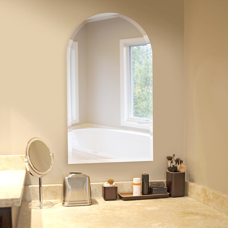 Titcomb Frameless Arched Wall Mirror