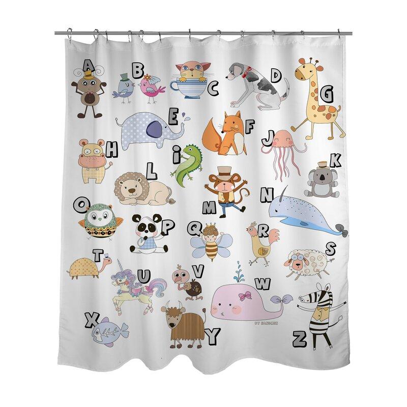 Superior Animal Alphabet Shower Curtain