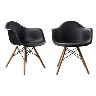 Modern Designer Plastic Dinning Side Chair (Set of 2)