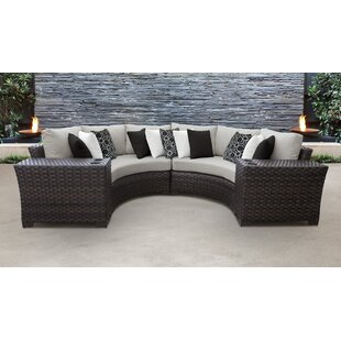 4 Piece Wicker Furniture Set Wayfair