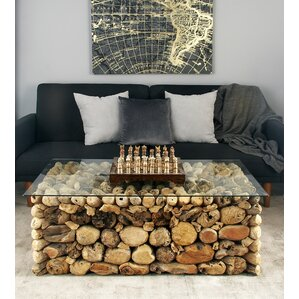 Wood and Glass Coffee Table by Cole & ..