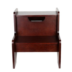 2-Step Wood Step Stool  sc 1 st  Wayfair : bed step stools for high beds - islam-shia.org