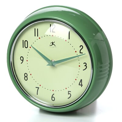 Brayden Studio Maysonet 9.5 Wall Clock Finish: Green
