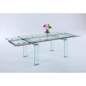 Krissie Clear Tempered Glass Angled Legs ..