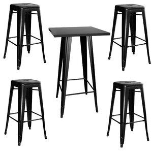 Racheal Loft 5 Piece Pub Table Set by Tre..