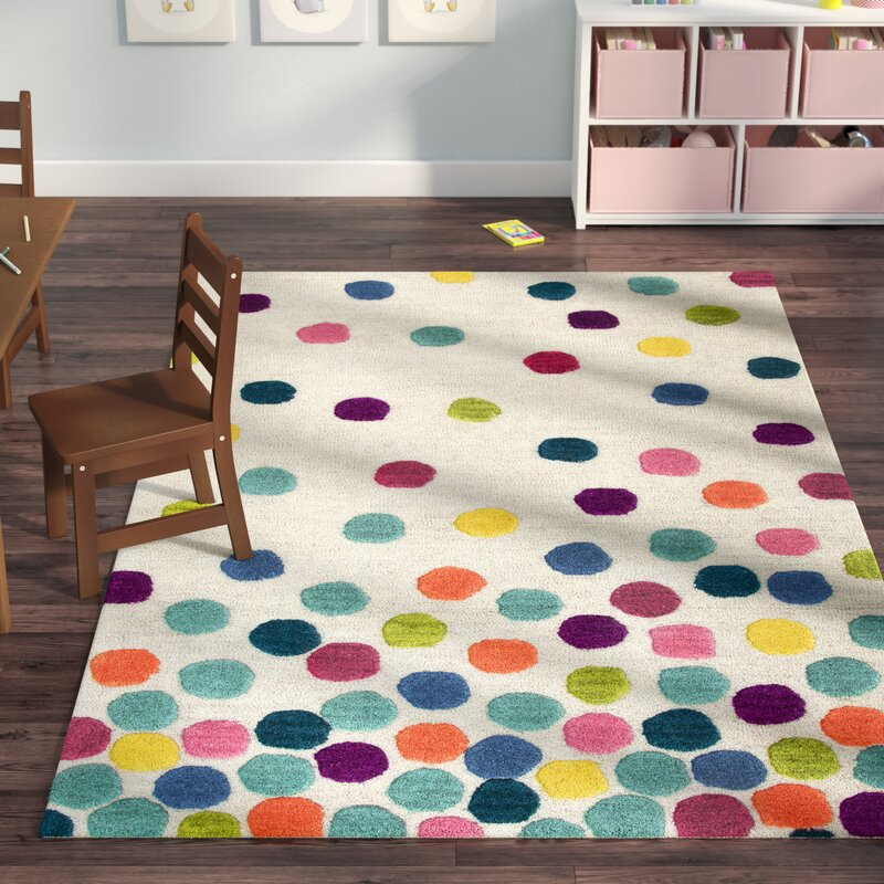 Viv + Rae Raquel Hand-Tufted Blue/Green Kids Rug & Reviews