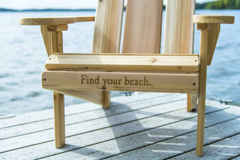 Perfect Solid Wood Adirondack Chair With Table
