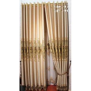 Decorative Embroidered Single Curtain Panel