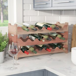Karnes Redwood Mini Scalloped 18 Bottle Tabletop Wine Rack