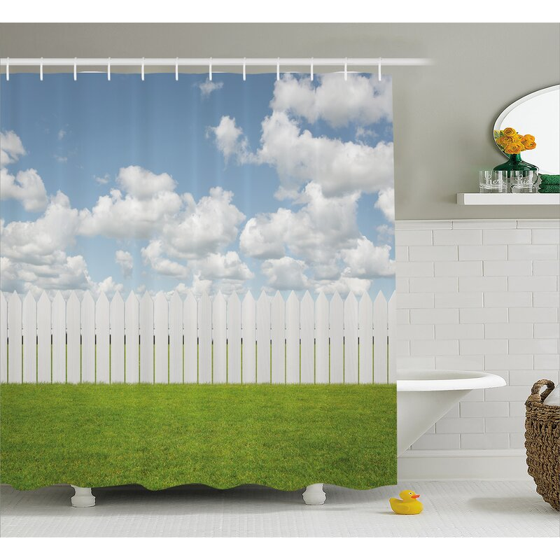 Scenery Sky With Clouds Farm Shower Curtain