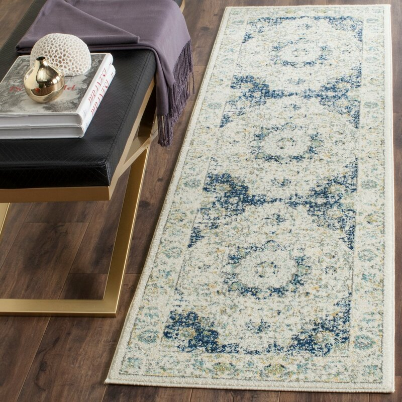 Elson Ivory & Blue Area Rug & Reviews
