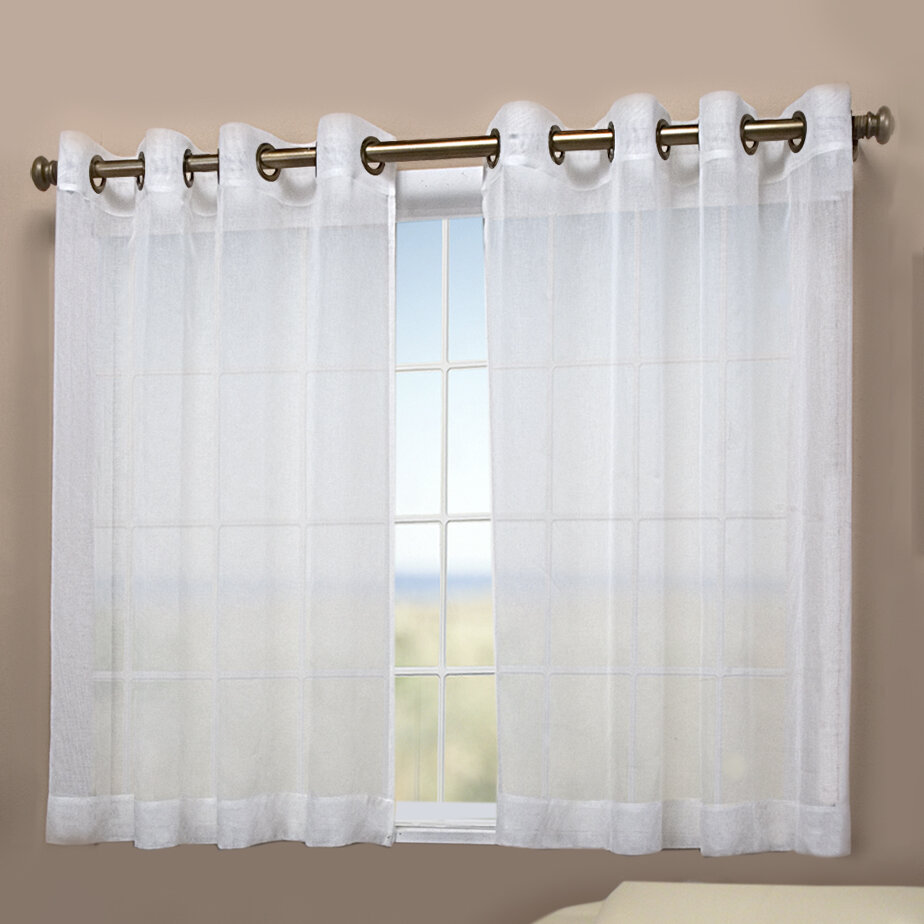 Ricardo trading bal harbour short solid semi sheer grommet single curtain panel reviews wayfair