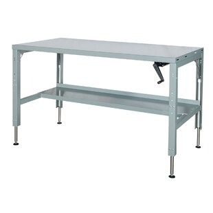 Workbench legs wayfair motorized hydraulic adjustable height steel top workbench watchthetrailerfo