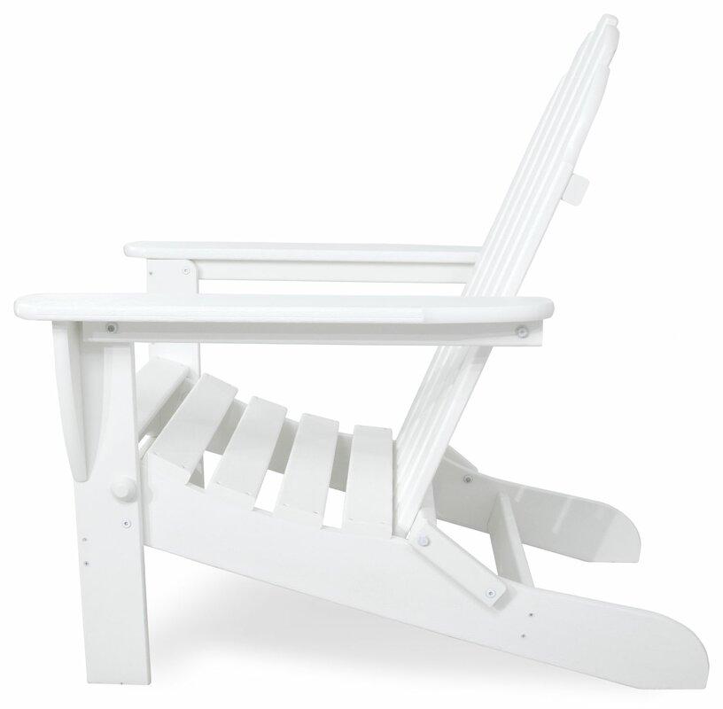 Ivy Terrace Classics Plastic Folding Adirondack Chair