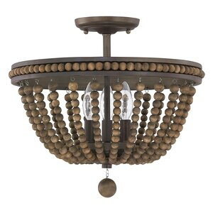 Roberto 3-Light Semi Flush Mount