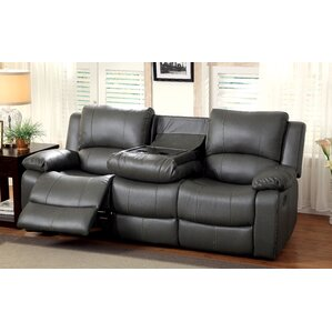 Darby Home Co Wellersburg Leather Reclining Sofa