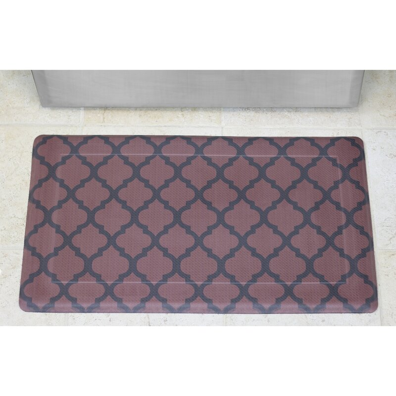 Comfort Quatrefoil Anti Fatigue Kitchen Mat