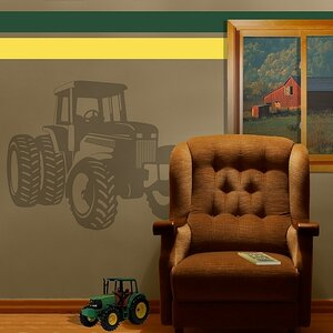 Tractor Sudden Shadow Wall Decal