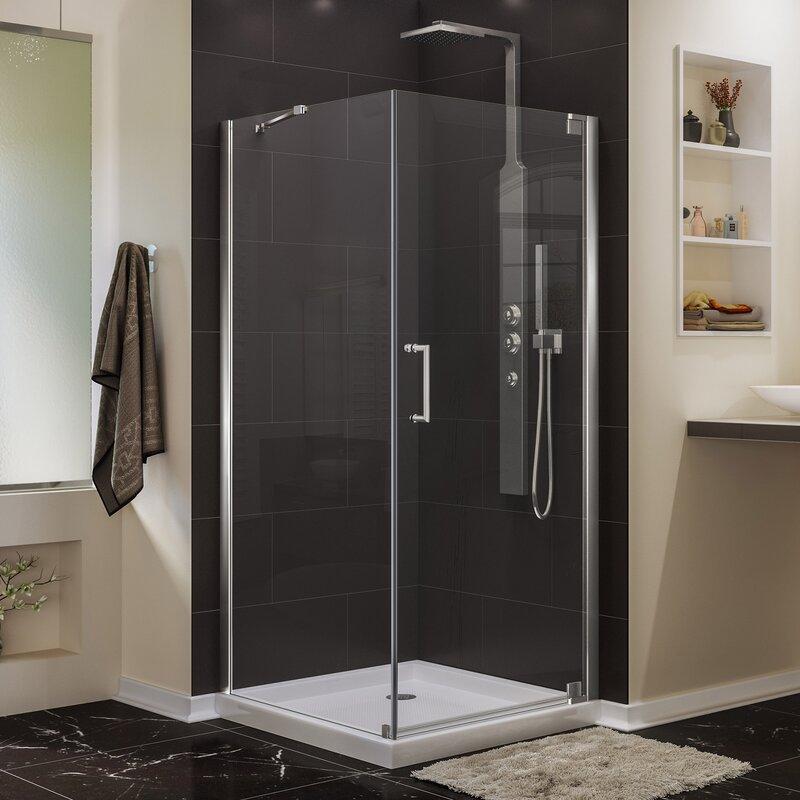 Elegance 34 X 72 Pivot Frameless Shower Door With Clear Max Technology