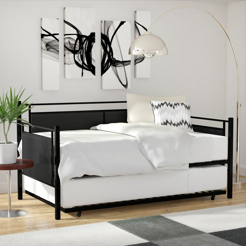 Wade Logan Callicoat Metal And Upholstered Daybed With