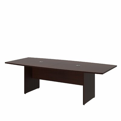 Bush Business Furniture Boat Shaped Conference Table Finish: Harvest Cherry
