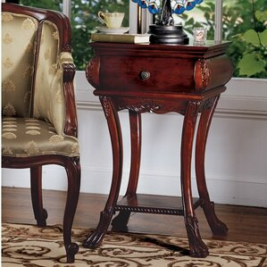 Loire Hourglass End Table With Storage� by D..