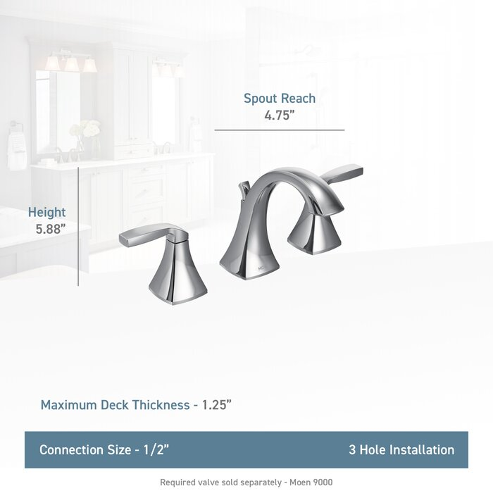 Moen Voss Widespread Bathroom Faucet With Drain Assembly Reviews