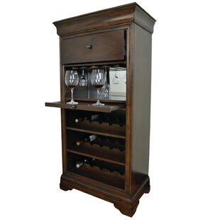 Silvia Bar Cabinet With 15 Bottle Wine Bar Best #1