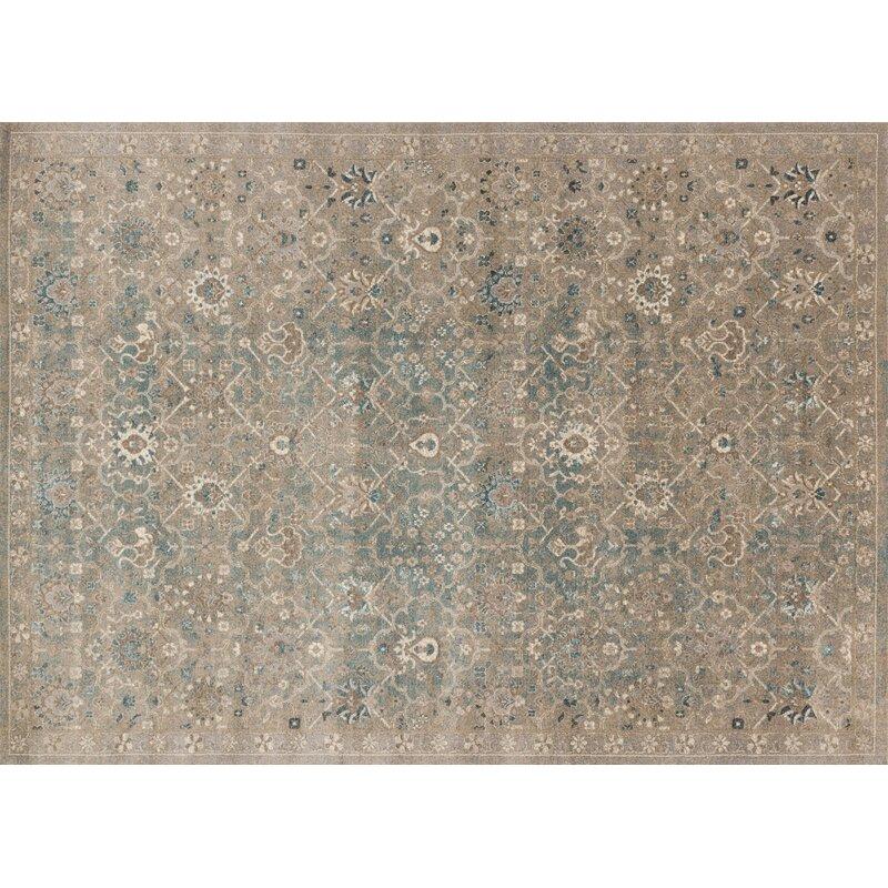 Alcott Hill Adelbert Bluestone Area Rug, Size: Rectangle 67 x 92