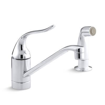 K 15176 Fl G Kohler Coralais Two Hole Kitchen Sink Faucet With 10