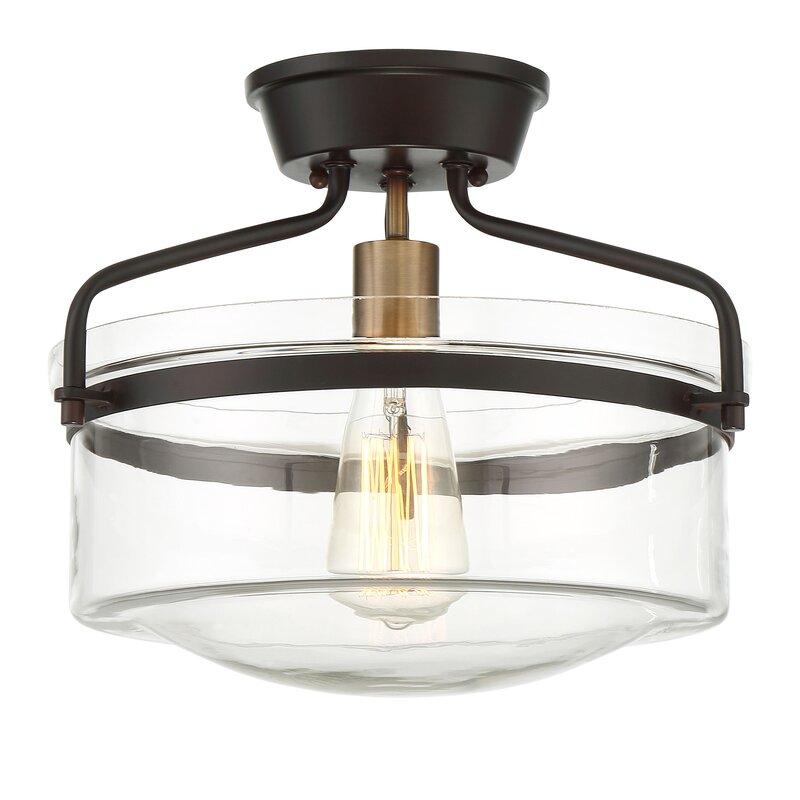 Rhinebeck 1 Light Semi Flush Mount Amp Reviews Allmodern