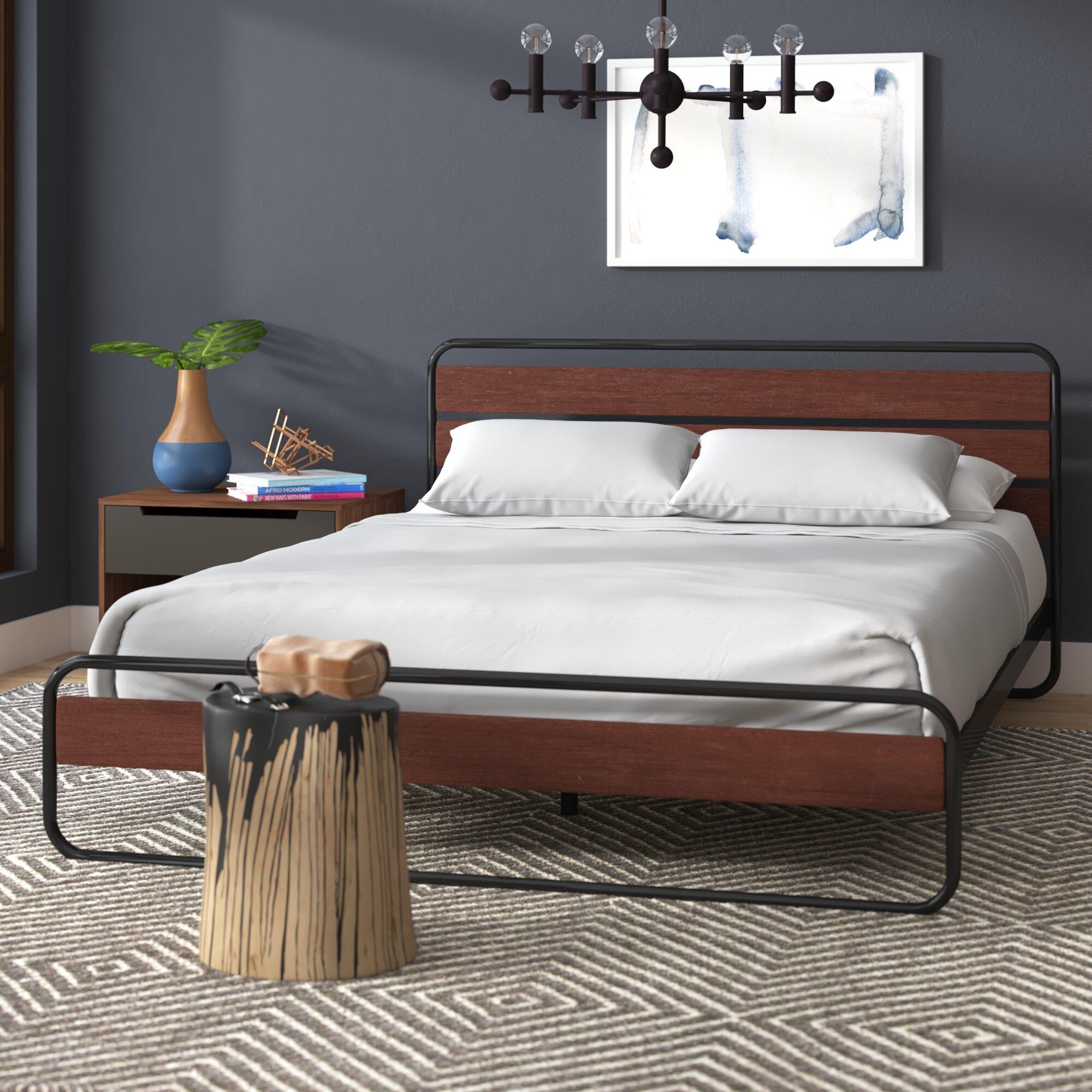 wade logan barba platform bed reviews wayfair