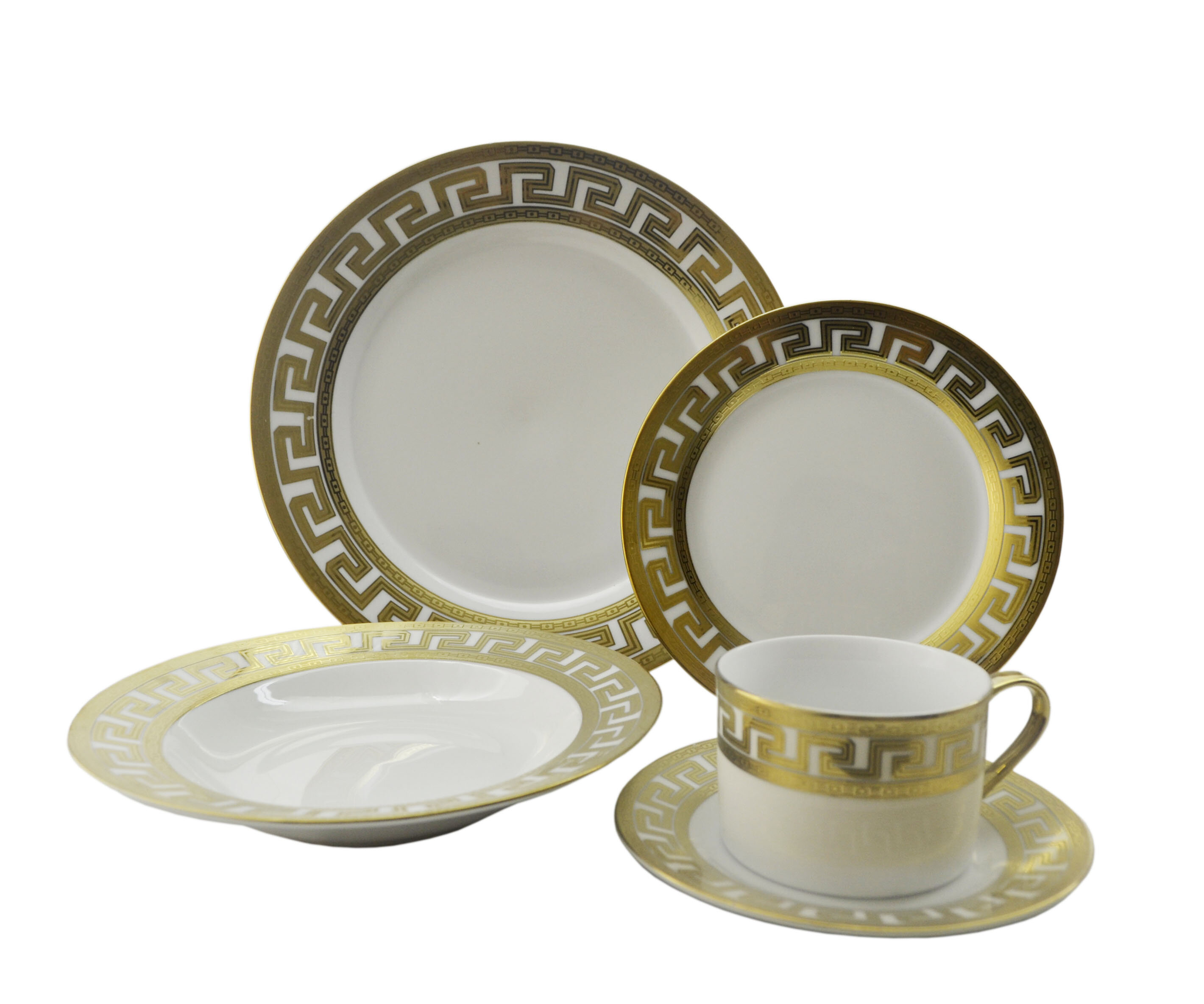 Three Star Inspired Versace 40 Piece Dinnerware Set Service for 8 u0026 Reviews   Wayfair  sc 1 st  Wayfair & Three Star Inspired Versace 40 Piece Dinnerware Set Service for 8 ...