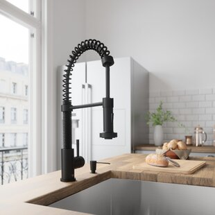 Black Kitchen Faucets Youll Love Wayfair - Black faucet for kitchen