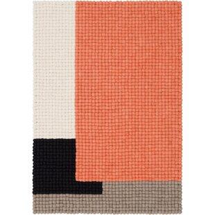 Cube Handmade Orange/Grey/Black Rug by Myfelt