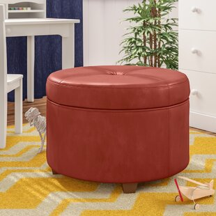 Superieur Dark Red Ottoman | Wayfair