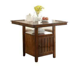 Kaysen Sturdy Counter Height Solid Wood Dining Table