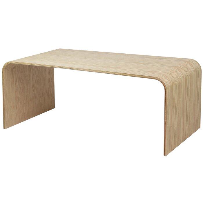 Dreshertown Basse Table En Courbé Bois WDHE29I