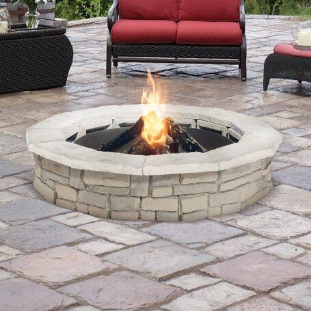 Natural Concrete Products Co Random Stone Concrete Wood