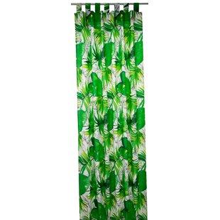 T Jungle Tab Top Room Darkening Single Curtain