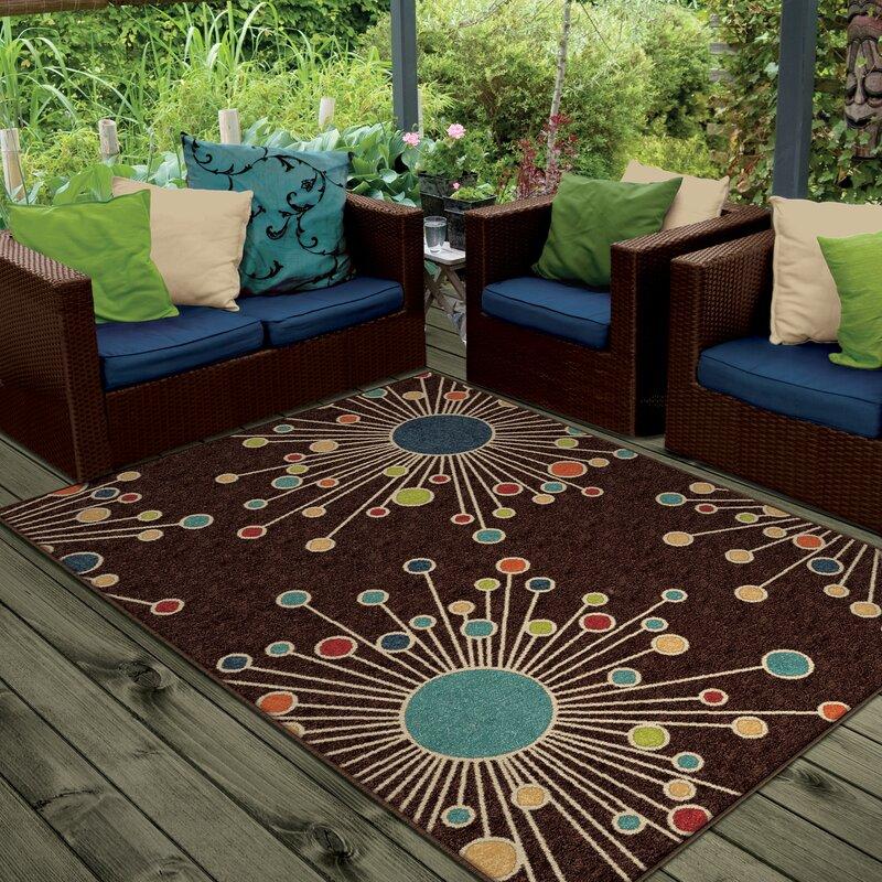Rahn Brown Indoor/Outdoor Area Rug