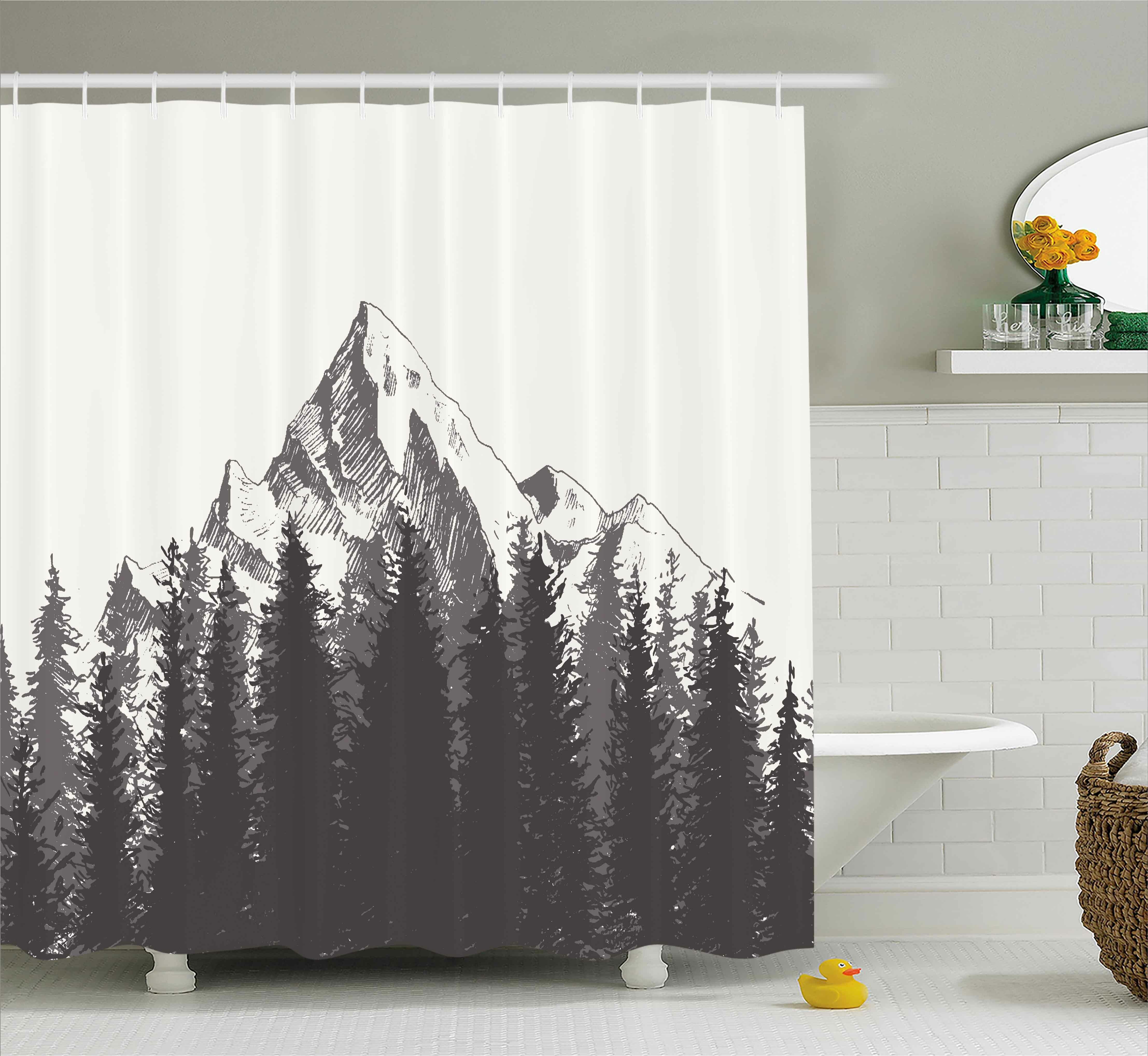 Loon Peak Ayers Native American Art Shower Curtain