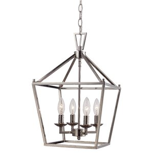 Carmen 4-Light Pendant  sc 1 st  Wayfair & Chrome Pendants Youu0027ll Love | Wayfair azcodes.com