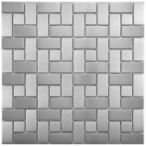 random sized mosaic tile in stainless steel