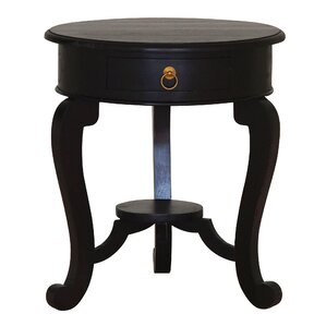 Queen Anne Fine Handcrafted Solid Mahogany Wood End Table by NES Furniture