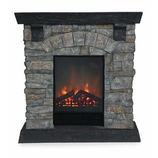Merveilleux Stacked Stone Electric Fireplace
