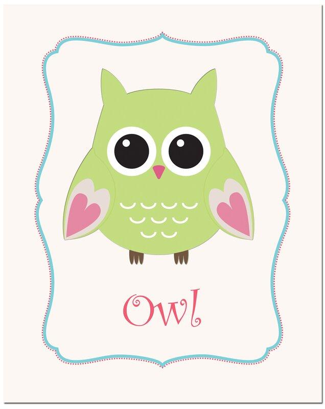 Owl in Frame Art Print