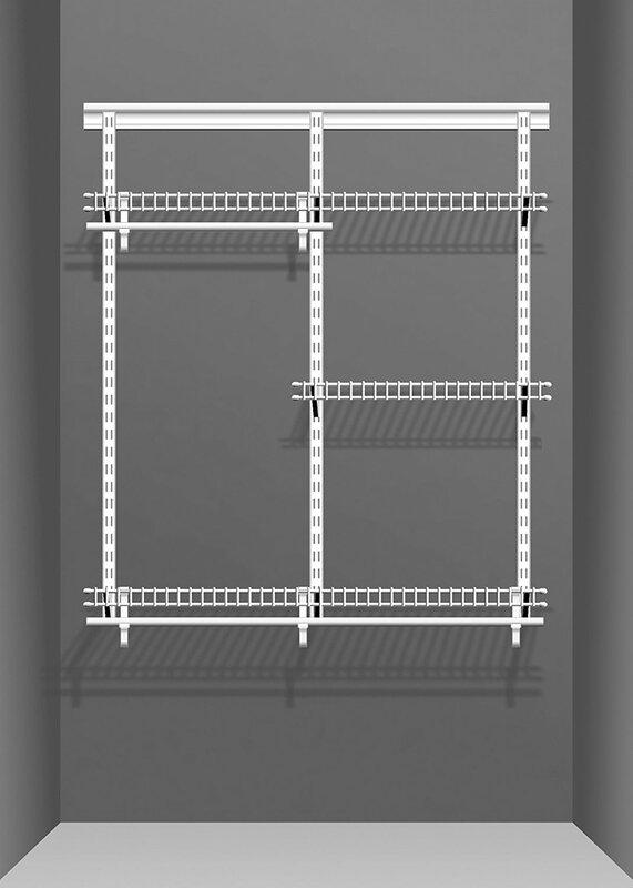 closetmaid adjustable clothes storage system up to 183cm wide reviews. Black Bedroom Furniture Sets. Home Design Ideas